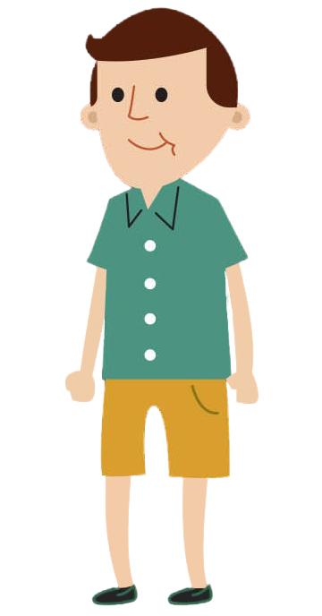 Cartoon male age 20