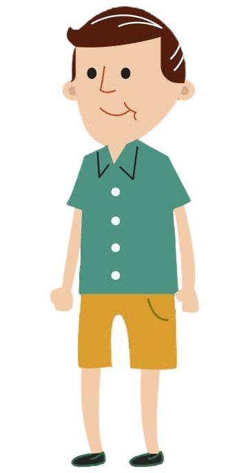 Cartoon male age 30