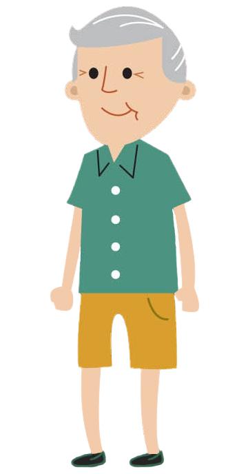 Cartoon male age 40