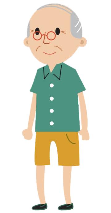 Cartoon male age 50+